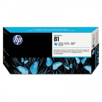 Cap Printare & Cleaner HP Nr. 81 Dye Light Cyan for Designjet 5000/UV, 5500 42', 5500 60', 5500 PS 42', 5500 PS 60', 5500 PS UV 42', 5500 PS UV 60', 5500 UV 42', 5500 UV 60', 5500MFP A0 C4954A