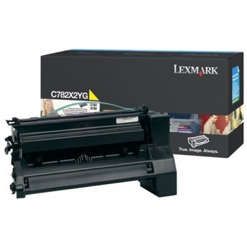 Cartus Toner Lexmark C782X2YG Yellow Extra High Yield 15000 pagini for C782DN, C782DTN, C782N, X782E