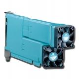 PC ventilation, format din doua tuburi cu cap orientabil si reglabil, continand 2 coolere de 4,5 cm, se monteaza pe slot