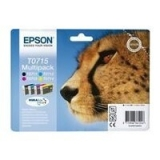 Multipack Cartuse Cerneala Epson T0715 Ultra Ink 4 COLOR for Stylus D78,DX4000, 4050, 5000, 5050, 6000, 6050, 7000F C13T07154010