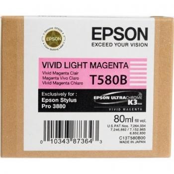 Cartus Cerneala Epson T580B Vivid Light Magenta 80ml for Stylus Pro 3800, Stylus Pro 3880 C13T580B00