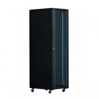 """Rack Server Xcab XCAB-42U6060S 42U 19"""" 600x600mm, usa fata sticla securizata cu montura metalica, usa spate metal plin, negru"""