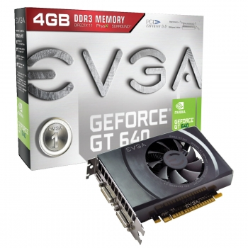 Placa Video EVGA nVidia GeForce GT 640 4GB GDDR3 128bit PCI-E x16 3.0 2xDVI miniHDMI 04G-P4-2649-KR