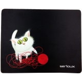 Mouse Pad Serioux Cat and ball of yarn MSP01 black SRXA-MSP01