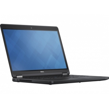 Laptop Dell Latitude E5450, 14.0 inch FHD (1920x1080) Anti-Glare LCD, Intel Core i5-5300U Base, video integrat Intel HD Graphics 5500, RAM 8GB (1x8GB) 1600MHz DDR3L Memory, 256GB Mobility Solid State Drive, no ODD, Card Reader, Fingerprint Reader, Boxe st