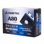 Sursa Modulara Chieftec A-80 550W 2x PCI-E 6x SATA 4x Molex 2x Floppy PFC Activ UVP, OVP, SCP, OPP, OCP, OTP Certificare 85+ CTG-550C