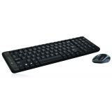 Kit Wireless Tastatura+Mouse Logitech Combo MK220 Mouse Laser Tastatura Standard USB Black 920-003168