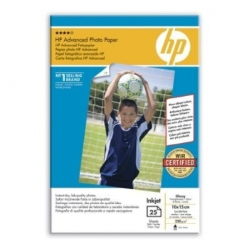 Hartie Foto HP Q8691A Advanced Glossy Photo Paper Dimensiune: 4x6inch,10x15 cm Numar coli: 25