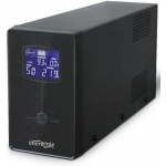 UPS GEMBIRD 1200VA w. AVR, diplay LCD, interfata USB, black,