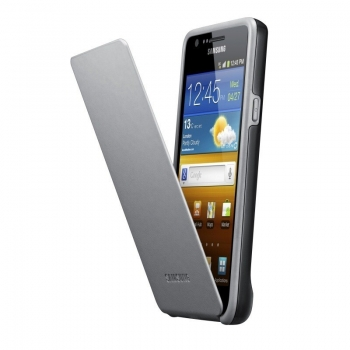 Husa protectie Samsung EF-C1A2BGECSTD Flip Cover Black-Grey pentru i9100 Galaxy S II