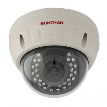 "Camera de supraveghere Sunchan DM-918NX CCD II Sony 1/3"" 600 LTV varifocala 4-9mm Dome"