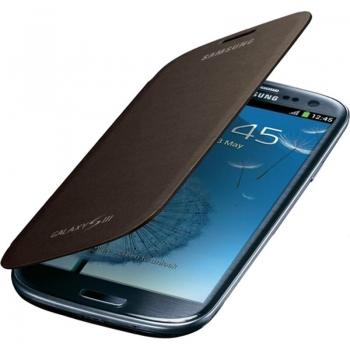 Husa Samsung EFC-1G6FAECSTD pentru i9300 Galaxy S III Flip Cover Amber Brown