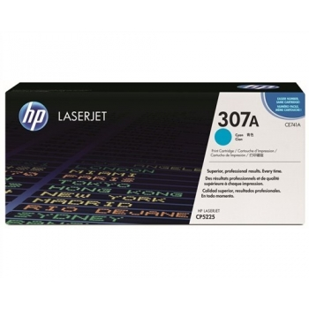 Cartus Toner HP Nr. 307A Cyan 7300 Pagini for Color LaserJet CP5220, CP5225, CP5225DN, CP5225N CE741A