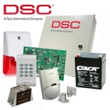 Kit DSC KIT 1404-INT - centrala PC1404 (tastatura inclusa) - transformator TC20/16 - un acumulator PL-5AH - un detector LC100PCI -o sirena de interior cu flash LD95 - un contact magnetic aparent