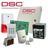 Kit DSC KIT 1404-INT - centrala PC1404 (tastatura inclusa) - transformator TC20/16 - un acumulator PL-5AH - un detector LC100PCI -o sirena de interior cu flash LD95 - un contact magnetic aparent