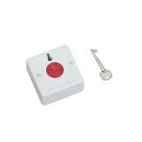 Buton de panica aplicabil BT-27 din plastic,Revenire cu cheie,Functionare 3 fire, normal deschis/normal inchis,cu retinere, culoare alba