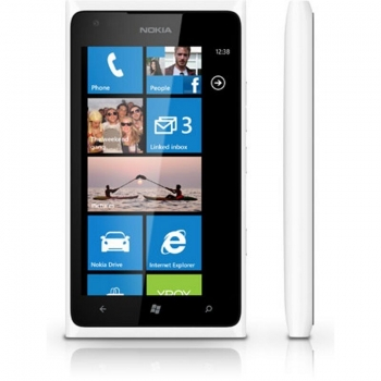 "Telefon Mobil Nokia Lumia 900 White 3G 4.3"" 480 x 800 AMOLED Corning Gorilla Glass Scorpion 1.4GHz memorie interna 16GB Windows Phone 7.5 Mango NOK900WH"