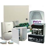 Kit DSC KIT 585-EXT 1 x centrala PC585 (tastatura inclusa), 1 x transformator TC20/16, 1 x acumulator PL-5AH , 1 x acumulator PL-2,3AH, 1 x detector LC100PCI cu suport original LC-MBS, 1 x sirena de exterior LADY-PI, 1 x contact magnetic aparent MC-06W