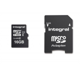 INTEGRAL INMSDH16G10-90U1 Integral micro SDHC/XC Cards CL10 16GB - Ultima Pro - UHS-1 90 MB/s transfer