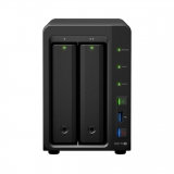 Synology DS716+II, 2-Bay SATA 3G, Q Core 1,6Ghz, 2GB, 2xGbE LAN, 3xUSB3, eSATA