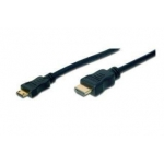 Digitus HDMI High Speed connection cable, with amplifier, A M/C M(mini), 3,0m
