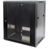 Intellinet Dulap suspendat 19'' 9U/450 mm uși din geam o sing. secțiune, negru