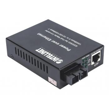 Intellinet Gigabit PoE+ Media Converter 1000Base-T RJ45/1000Base-LX (SC) SM 20km