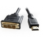 Gembird HDMI to DVI male-male cable with gold-plated connectors, 7.5m, bulk pack