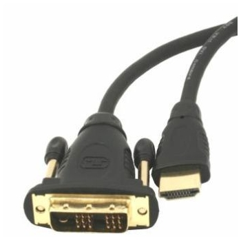 Gembird HDMI to DVI male-male cable with gold-plated connectors, 10m, bulk pack