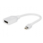 Gembird adapter Displayport mini(M) -> Displayport(F), white, with cable 10cm