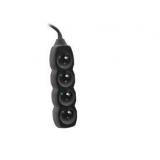 Cablu prelungitor TRACER PowerCord 3m (3 priză; negru)
