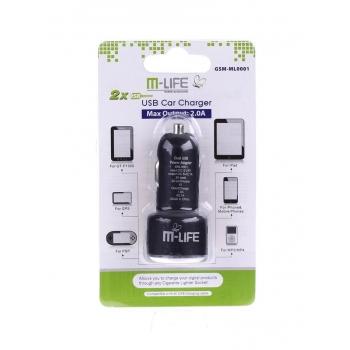 Dual USB 2A încărcător de mașină pentru M-Life