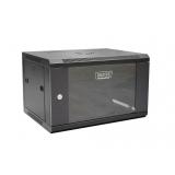 DIGITUS Wallmount cabinet 6U, 600x450mm, black RAL 9004