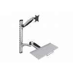 Flexible Wall Mount, 1xLCD+keyboard, max. 27'',  adjustable and rotated 360°