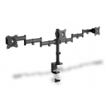 Clamb Mount Monitor Stand, 3xLCD, max. 3x27'', adjustable and rotated 360°