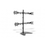 Universal Monitor Stand, 4xLCD, 27'', max. load 8kg,  adjustable and rotated 360