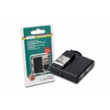 DIGITUS Hub 4-port USB 2.0 HighSpeed, w/o Power Supply, black