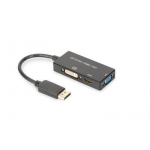 ASSMANN DisplayPort 1in3 HDMI, DVI and VGA converter cable