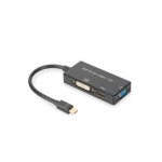 ASSMANN Mini DisplayPort 1in3 HDMI, DVI and VGA converter cable