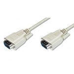 Cable VGA 1080p 60Hz FHD Type DSUB15/DSUB15 M/M grey 5,0m