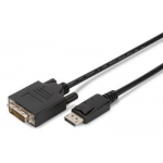 Cable Displayport w/interlock 1080p 60Hz FHD Type DP/DVI-D (24+1) M/M black 3m