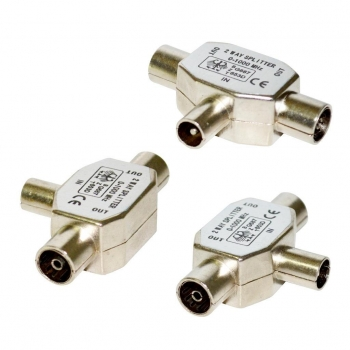 Vakoss Antenna plug RF male -> 2x RF female TC-A117S