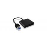 IcyBox External card reader USB 3.0, CF, SD, microSD