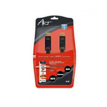 ART Cabel  AL-05-1,8m HDMI 1.4 HQ 19pin male/HDMI 19pin male angular gold-plated