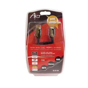 ART Cable AL-01-3m HDMI 19pin male/HDMI 19pin male gold-plated
