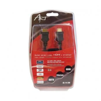 ART Cable HDMI 1.4 m/m 3m ETHERNET 3D AL-11 ART