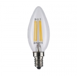 ART LED BULB COG filament, candle, lucent E14, 4W, AC230V,WW