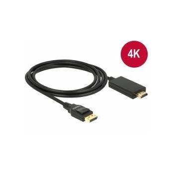 Delock Cablu Displayport 1.2 tată - High Speed HDMI-A tată pasiv 4K, 1m; negru