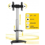 Techly Mobile stand for TV LCD/LED/Plasma 37''-70'' VESA, pivot, adjustable