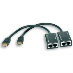 Techly HDMI extender by Cat.5e/6 cable, up to 30m
